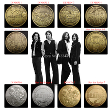 [Different design]7pcs/lot Free Shipping,1960-1970 The Beatles souvenir coins,1 oz silver/gold/bronze plated coins,Beatles coins