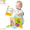 Kidus Box Montessori Di Legno Giocattolo Educativo Per I Bambini Spedizione Gratuita Classic Multi Shape Sorter Blocco per I Bambini