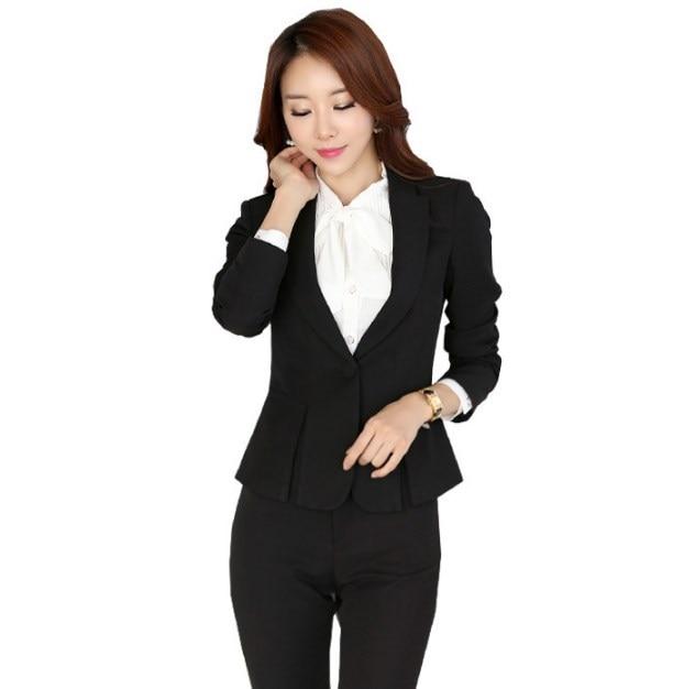 Կանացի Plus չափի շալվար կոստյում Սև - Կանացի հագուստ - Լուսանկար 3