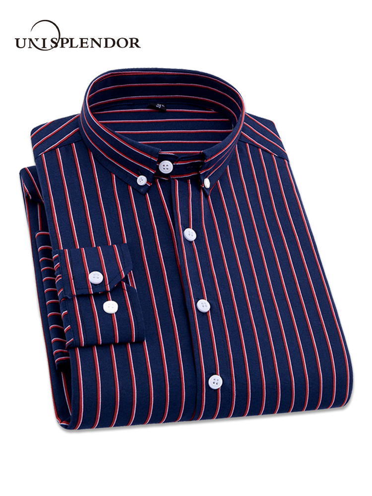 2018 männer Gestreiften Hemden Beiläufige Lange Ärmeln Herren Shirt 4XL Plus Größe Business Mann Hemd Männlich Social Kleid Shirts Outwear YN10235