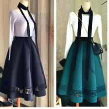 Elegant Korean Winter Skirts Womens Hepburn Style Vintage High Waist Tutu Skirt Space Cotton Quality Tutu Free Shipping 2018