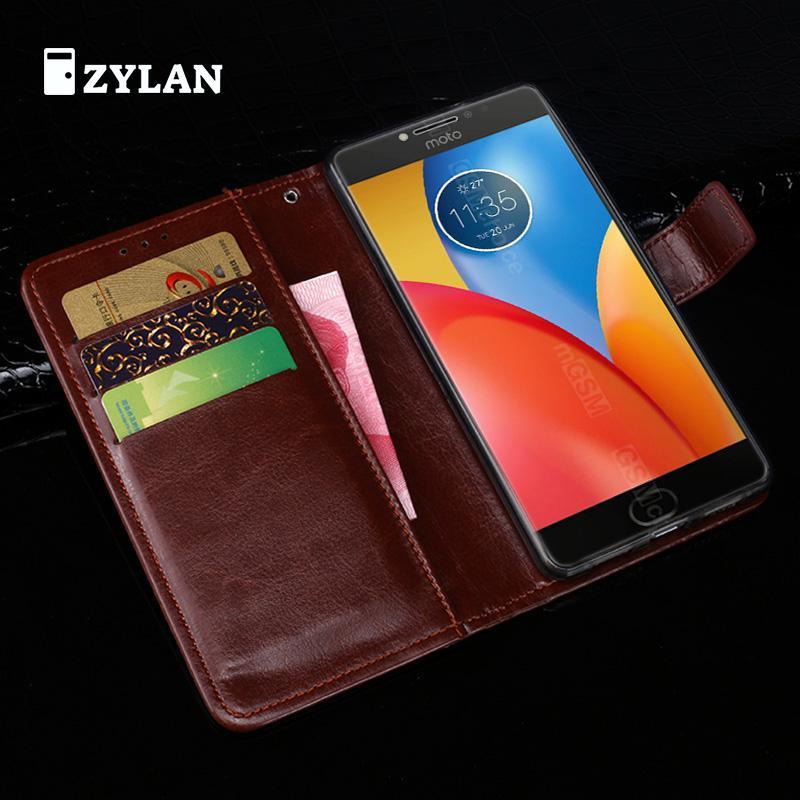ZYLAN Pour Motorola Moto E4 Plus Cas En Cuir de Couverture Arrière de Téléphone cas Pour Motorola Moto E4 Plus MT6737 XT1773 XT1771 Cas Flip