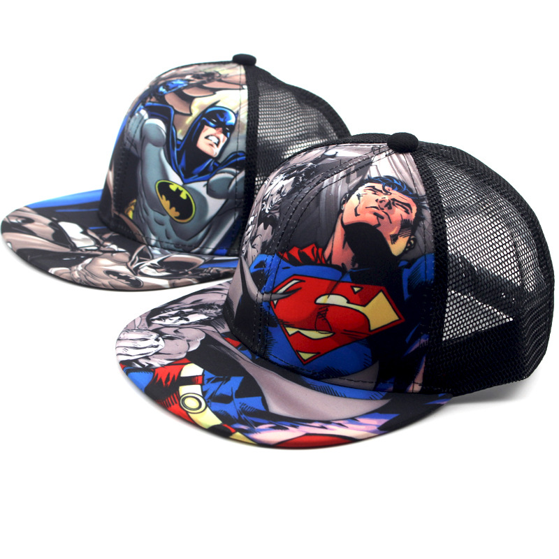 Cartoon Anime Super Hero Superman Batman Baseball Caps For Children Boy Sport Cap Hip Hop Hats Summer Sun Hat Outdoor Shade Cap anime pocket monster flareon cosplay cap orange cartoon pikachu ladies dress pokemon go hat charm costume props baseball cap