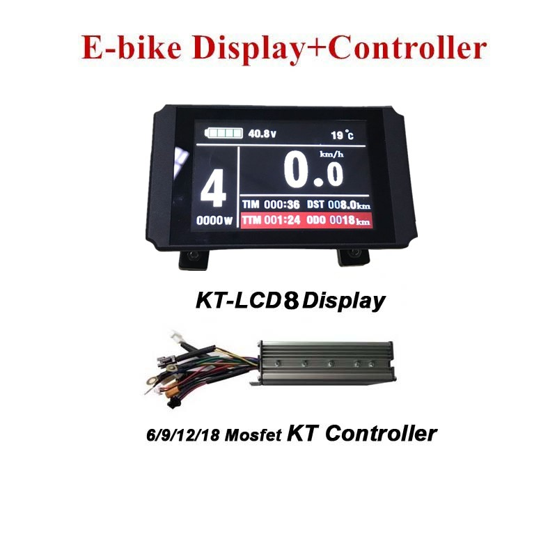 E bike Display KT LCD8 Colourful display +Electric Bicycle Controller KT Controller-in Accesorios de bicicleta eléctrica from Deportes y entretenimiento on AliExpress - 11.11_Double 11_Singles' Day 1