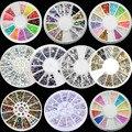 1 Rodas 3D New Hot Nail Art Nail Art Pedrinhas Glitters Acrílico Dicas Decoração Manicure Roda