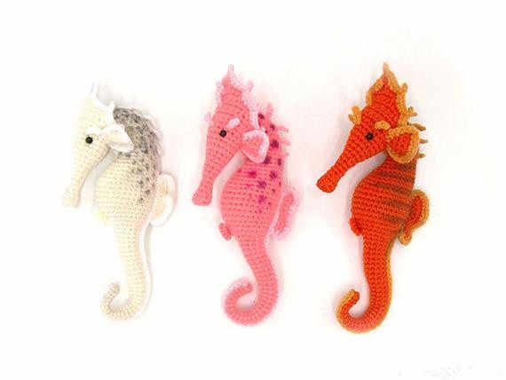 DMC Natura XL Crochet Pattern for a Seahorse | Outback Yarns | 428x570