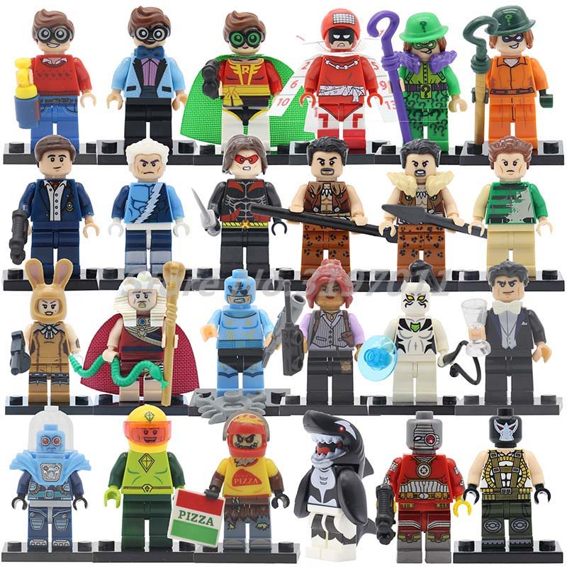 Single Sale Robin Super Heroes Figure Building Blocks Marvel DC Superhero Mini Dolls DIY Toys For Children Christmas Gifts super heroes single sale the villain of yellow lantern skeletor heman he man he man building blocks toys for children gift kf921