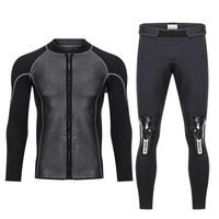 Hisea 2.5mm Neoprene Swimwear Men's Top wetsuit jackets pants 2.5mm neoprene long sleeve swimsuit surfing