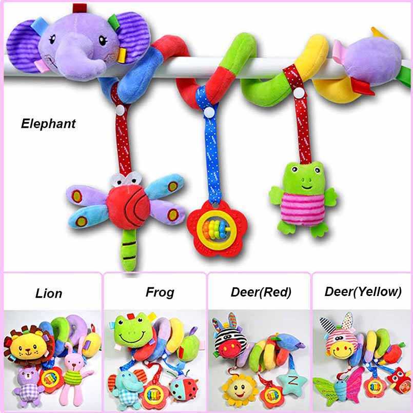 Educational, Baby, Plush, Bed, Rattle, Hanging