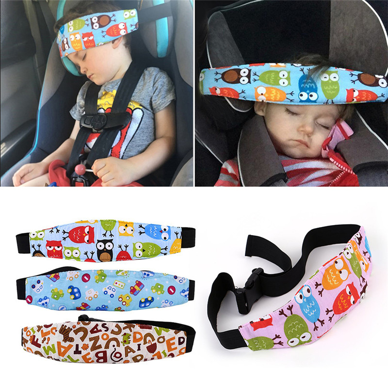 Baby Stroller Sleeping Head Support Child Car Safety Seat Head Fixing Auxiliary Cotton Belt For Child Safety Seat Accessories