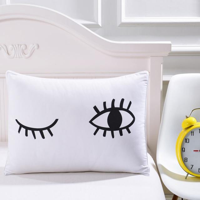 1 piece cute cartoon elk antlers pillow cases big eyes design pillow Unique Pillow Designs