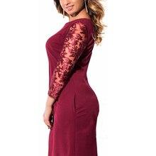 2018 Spring Long Sleeve Dress Big Size Office Dress Women Clothing O-Neck Plus Size Bodycon Women Dress Vestidos 6XL 5XL