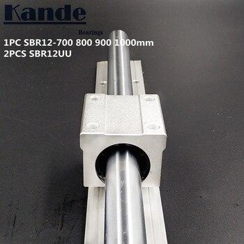 Carril Lineal 12mm SBR12-700, 800, 900, 1000 Mm 1 Pc Guía Lineal SBR12 + 2 Uds SBR12UU Bloques Para CNC