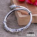 925 sterling silver jewelry handmade silver lotus  fashion atmosphere Adjustable Bracelet