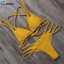 BANDEA женщин короткий топ бикини установить 2017 новый мягкий бикини сексуальный купальник крючком купальники ручной работы бикини марка купальник HA013