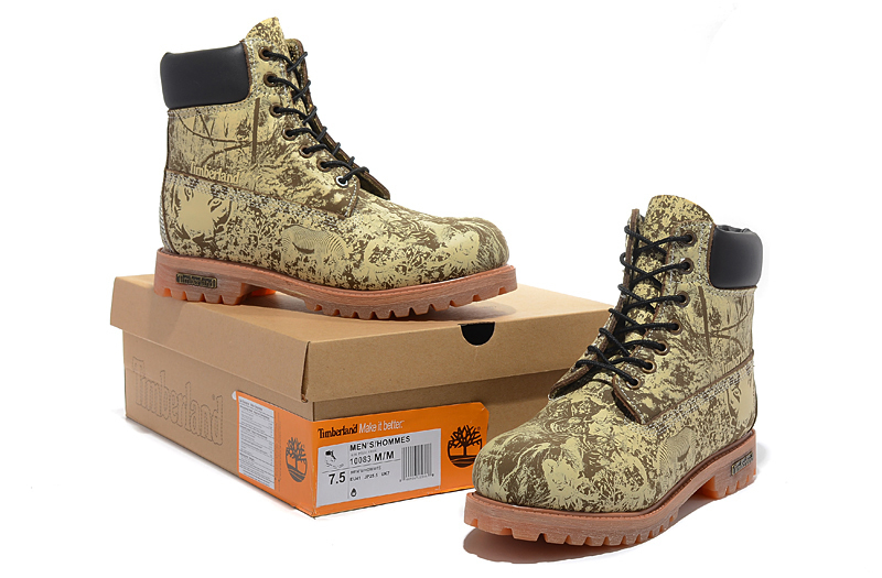 Original Super TIMBERLAND Animal Prints Men Premium Ankle Martin Boots,Man Genuine Leather Timber Outdoor Casual Shoes 10083 5