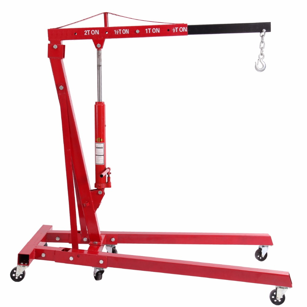 (Ship From USA) Foldable 2T Ton 4400lb Hydraulic Engine Hoist Shop Crane Jack Lift Hand Operated