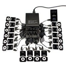 Wireless Tour Guide System 16 Port Charger Base Transmitter 15 Receiver for Tour Guiding Simultaneous Translation