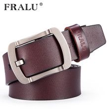 FRALU High quality genuine leather belt luxury designer belts men new Strap male Jeans for man cowboy free shipping belt men
