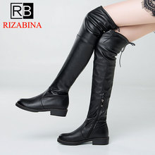 5975b4390b RIZABINA Brand New Trendy Style Plus Size 34-43 Top Quality Over Knee Boots  Women'S