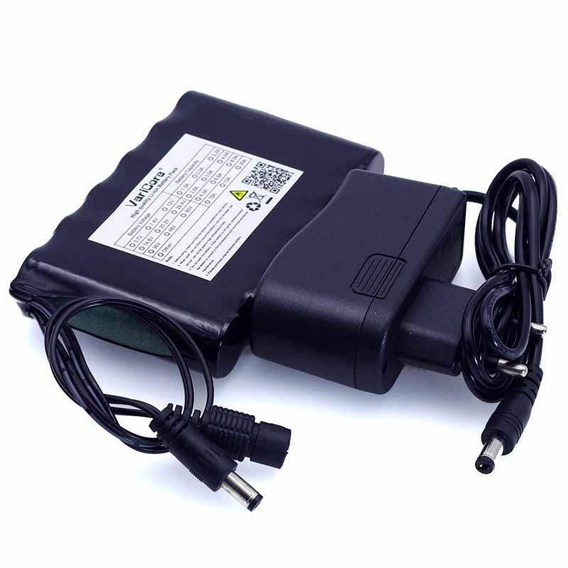 VariCore Portable Super 18650 Rechargeable Li-lon batterie capacité DC 12 v 6800 mah CCTV Cam Moniteur 12.6 v 1A Chargeur