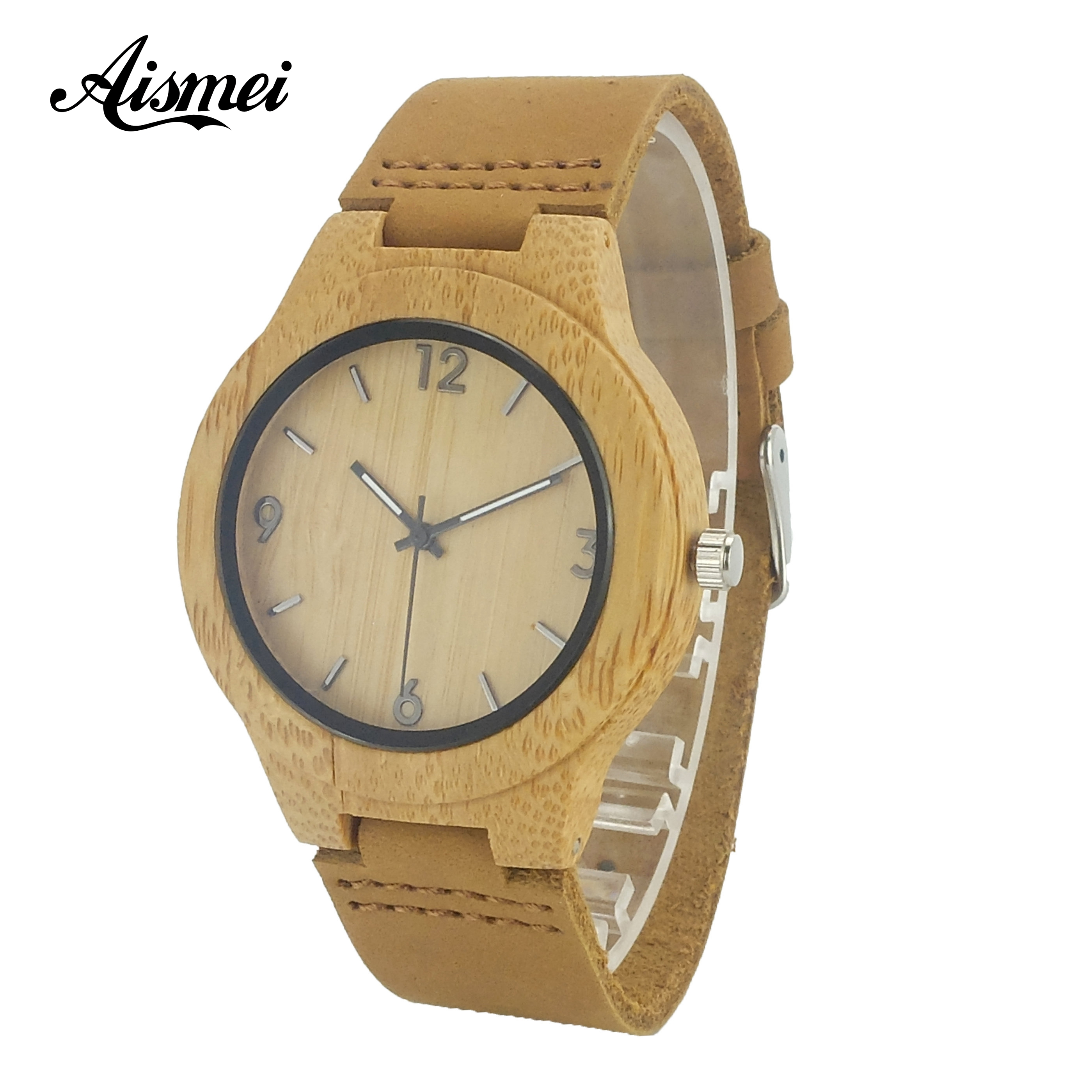 Fashion Women Wooden Quartz Watches with Genuine Leather Band Modern Nature Bamboo Analog Wrist Watch Relogio feminino fashion nature wood quartz wrist watch genuine leather band bamboo pattern strap men women analog green light grey gift