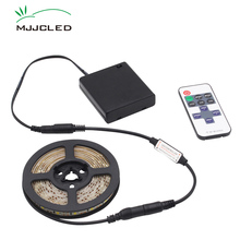 LED Light Strip Battery Powered Dimmable DC 5V LED Tape Battery Operated Stripe Waterproof 4AA with RF 11Keys Remote Control rgb led strip battery fita 5v waterproof smd 5050 rf remote control tv backlight battery operated tira led tape stripe ribbon