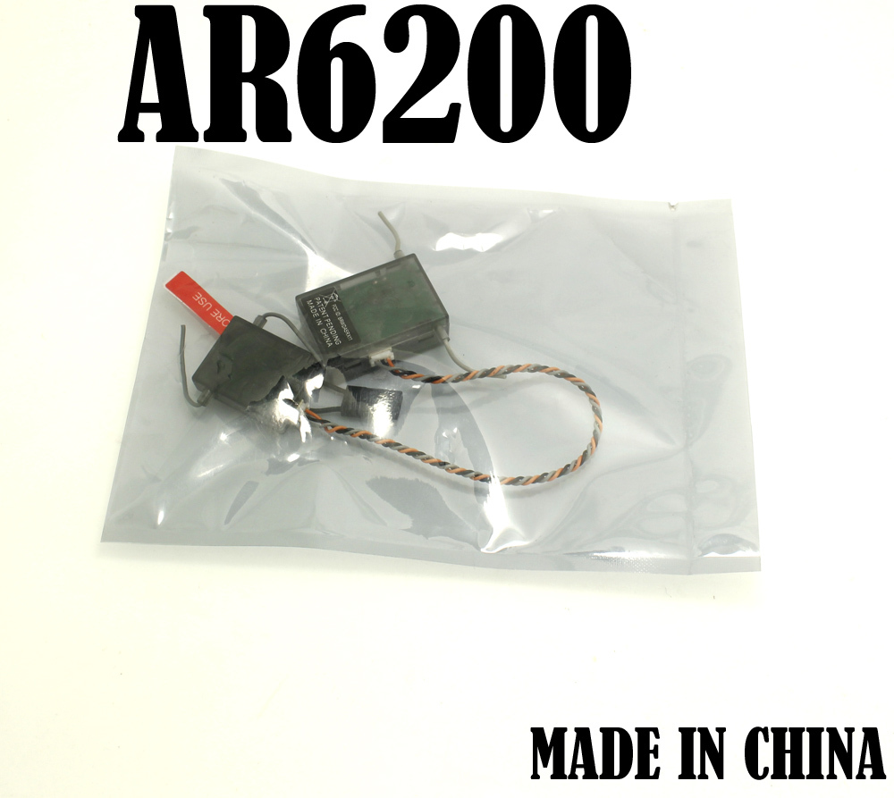 10PCS LOT AR6200 Receiver with satellite 2 4GHz 6 Channel for DX6i DX7 RC Airplane