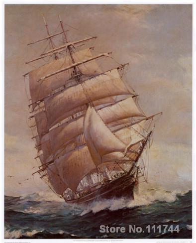 Boten schilderijen Romantiek van Zeil Frank Vining Smith art voor ...