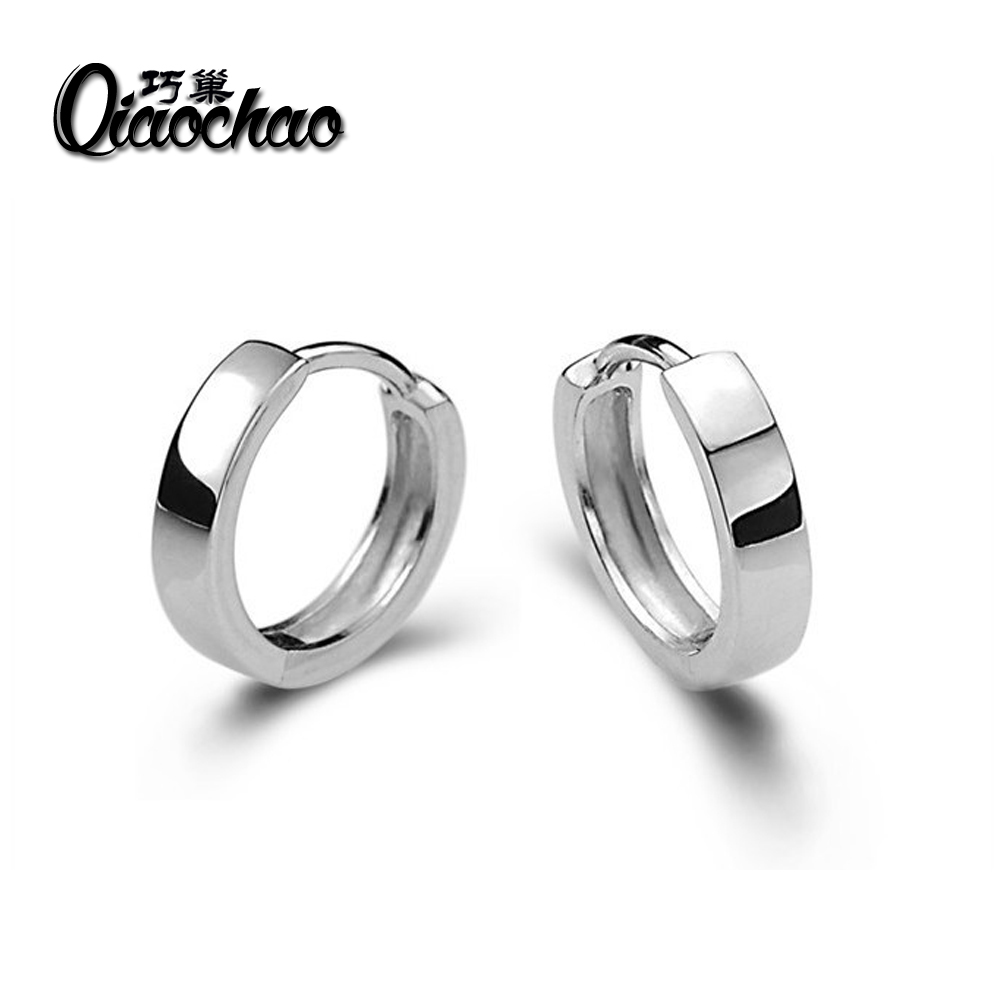 mini Silver Plated Hoop Earrings Basketball Brincos Round Silver Large Circle Party Earrings for Women E240
