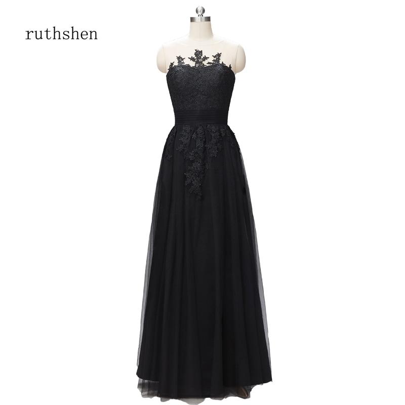Robe De soirée Robe De soirée Robe De soirée femme noire longue Robe De mariée élégante une ligne robes De grande taille