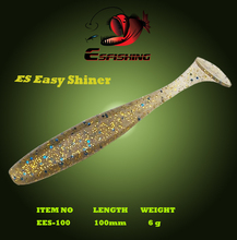 Fishing Lure Soft Esfishing Hot New Es Easy Shiner 4″6pcs 10cm/6g Fishing Wobblers Plastics Baits Pesca  Iscas Tackle