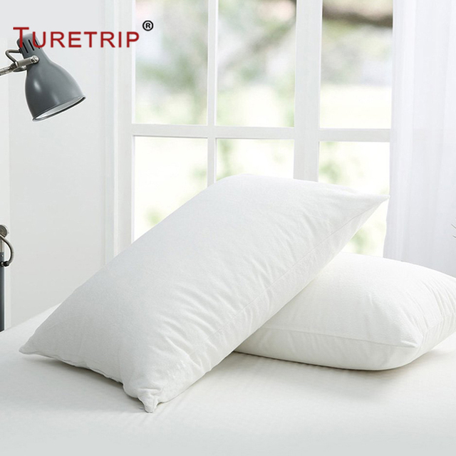Turetrip 40X40CM Waterproof Pillow Protector Set Of 40 Pillowcase Cool Bed Bug Pillow Cover