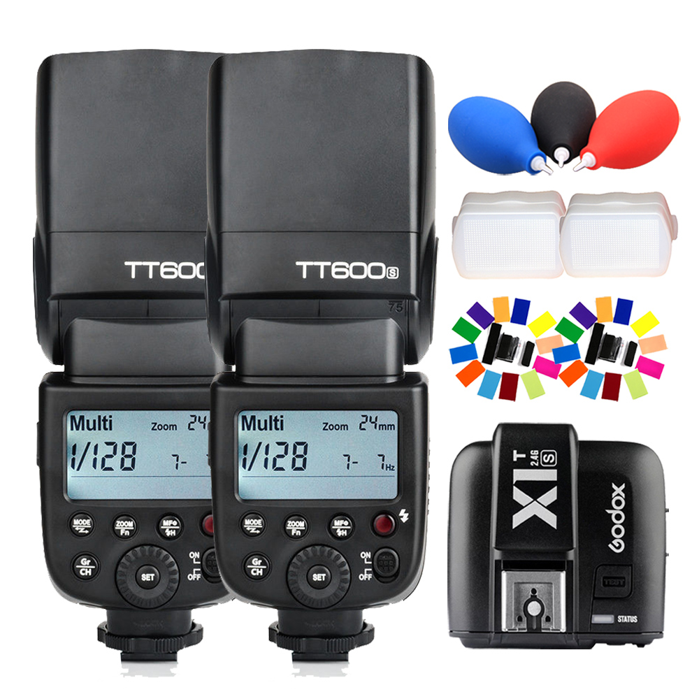 2Pcs Godox TT600S 2 4G HSS Wireles Flash Speedlite X1T S Transmitter for Sony