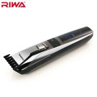 Riwa K3 Waterproof Rechargeable Hair Trimmer LCD Display Men S Cool Hair Trimmer Black One Piece
