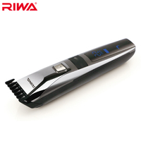 Riwa K3 Waterproof Rechargeable Hair Trimmer LCD Display Men S Cool Hair Trimmer Black One Piece