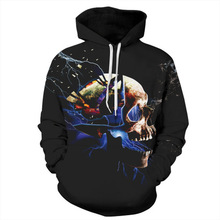 2019 Hoodies Funny Skull 3d Print Men Women Plus Size Hip Hop Sweatshirts Punk Thin Cap Mascu Streetwear