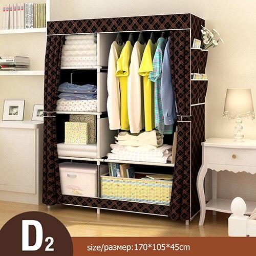 Многоцелевой нетканый Тканевый шкаф для спальни, складной портативный шкаф для хранения одежды, пылезащитный Тканевый шкаф, домашняя мебель - Цвет: HH340600CS11