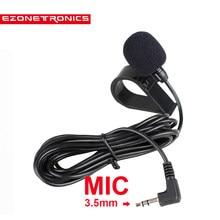Hot Mini 3.5mm 50 hz-20 khz Profissional Microfone Microfone Microfone Externo para Carro DVD Player GPS para bluetooth Mãos Livres Chamada 3 m