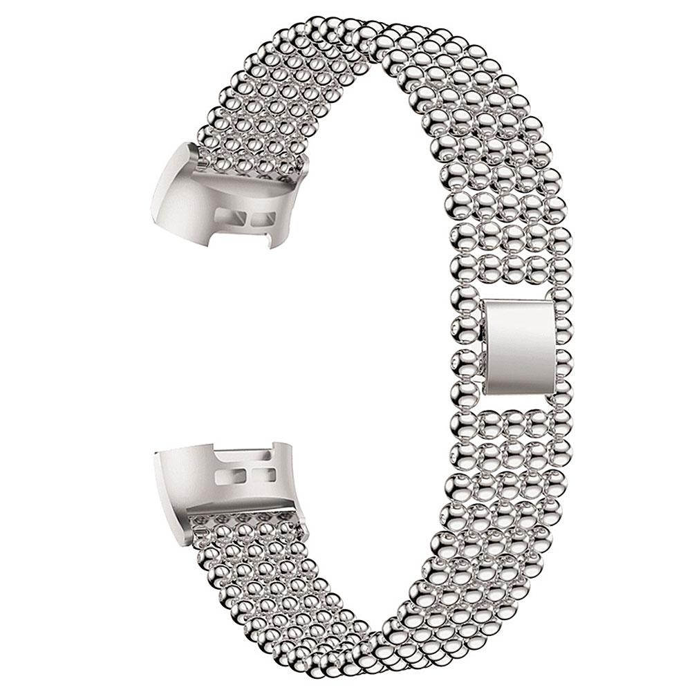 New Arrival Replacement Alloy Ball Beads Smartwatch Band Bracelet Strap for Fitbit Charge 3(China)
