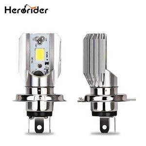 Herorider 12 В Hs1 h4 светодиодный светильник для мотоцикла, скутера, лампа белого цвета, 6000k, H4, светодиодный головной светильник для мотоцикла Hs1, H4, ...