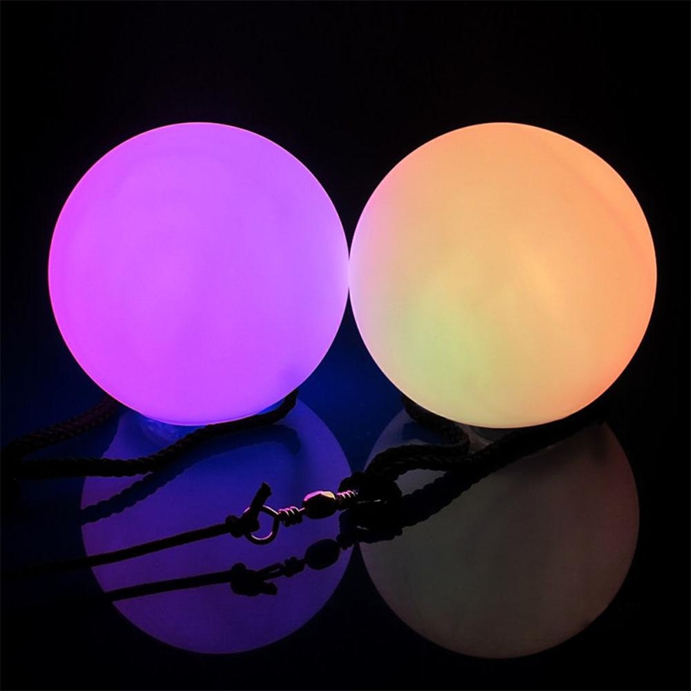 LED Glow Poi Sets Light up Practice Glow Poi Spinning NEW DE^