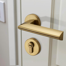 Modern Gold Plated Zinc Alloy Handles for Interior Doors Door Lock Handle