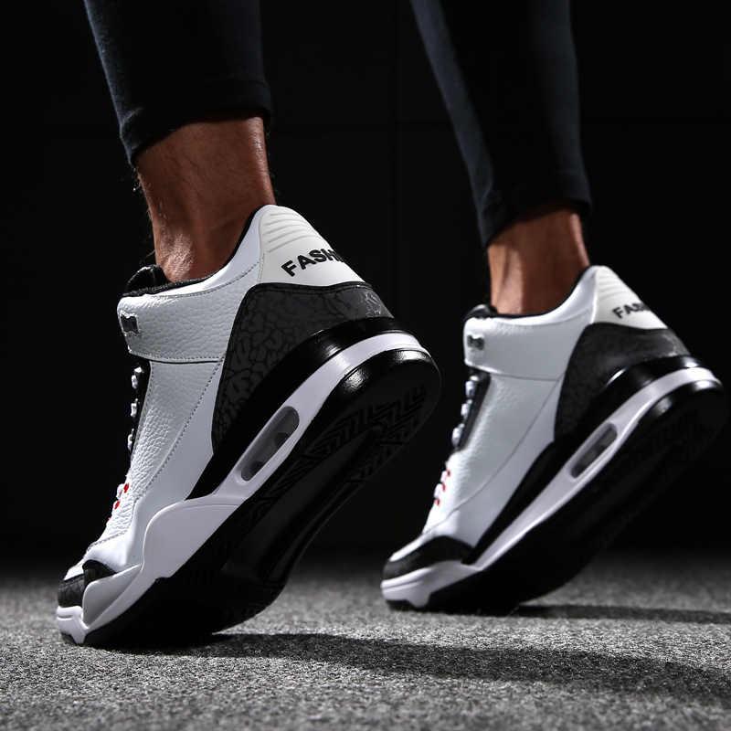 Mannen Basketbal Schoenen Air Kussen Zoom Hoge Top Jordan Basketbal Sneakers Lace Up Sport Retro Trainers Basketbal Schoenen Voor Mannen