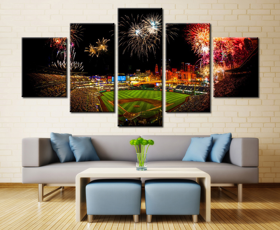 5 Pieces Popular Natures Different Landscape Modern Home Wall Decor Canvas Picture Art HD Print Painting On Artworks