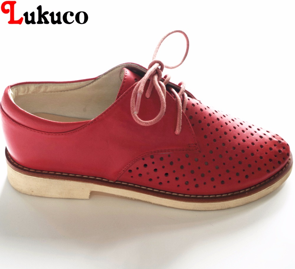 Lukuco concise style round hollow women casual flats microfiber made lace-up brogue shoes with pigskin inside lukuco pure color women mid calf motorcycle boots microfiber made buckle and zip design shoe with pigskin inside