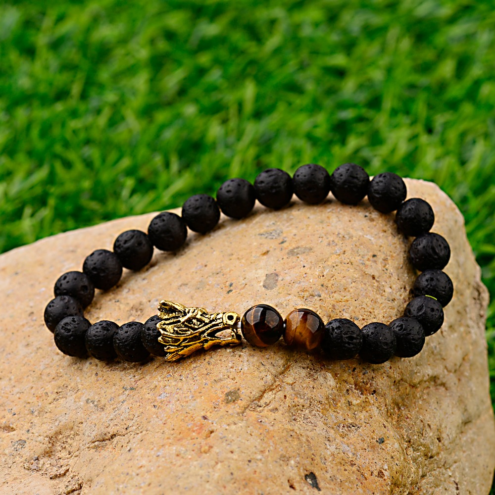 Jewelry & Accessories Strand Bracelets Bppccr Dragons Veins Matte Onyx Stone Alloy Barbell Fitness Dumbbells Men Chakra Infinite Bracelets Beads Masculino Pulseira