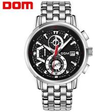 DOM Men's Watch Sports Watch Man Fashion Wrist Watch Quartz Military Chronograph Watches Men Army Waterproof Wristwatch M-6033