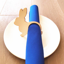 12pcs Easter Rabbit Wood Napkin Rings Table Decoration Bunny Laser Cut Ring Holder Custom Different Names