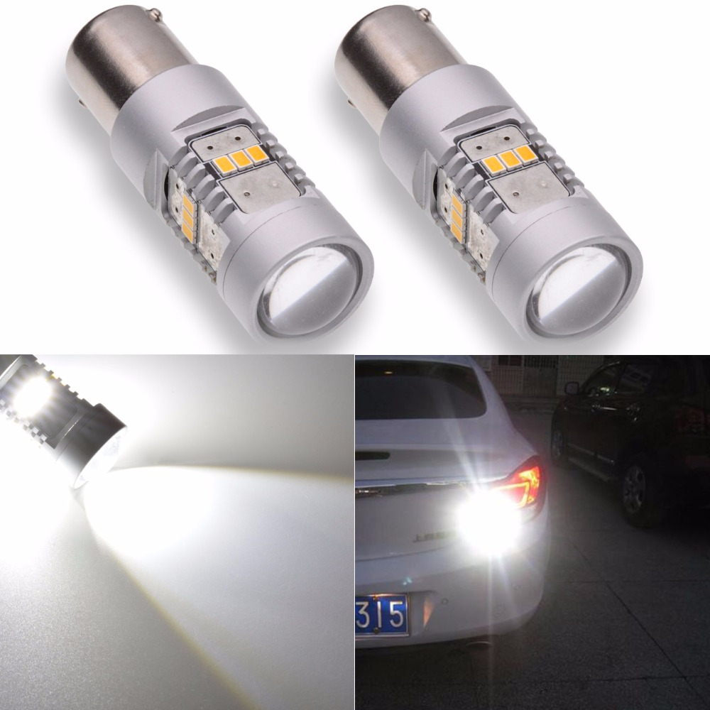 Katur 2pcs S25 1156 BA15S Led Bulb P21W Turn Signal Lights Daytime Running Lamp White/Orange Super Bright 1800Lm 3020 Chip аналоговый микшерный пульт behringer xenyx qx2222usb